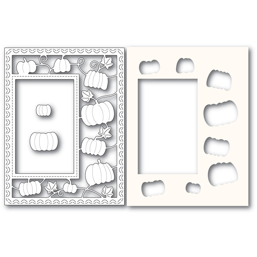 Poppystamps - Dies - Pumpkin Patch Sidekick Frame and Stencil