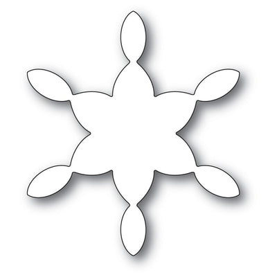 Poppystamps - Dies - Stained Glass Snowflake Background