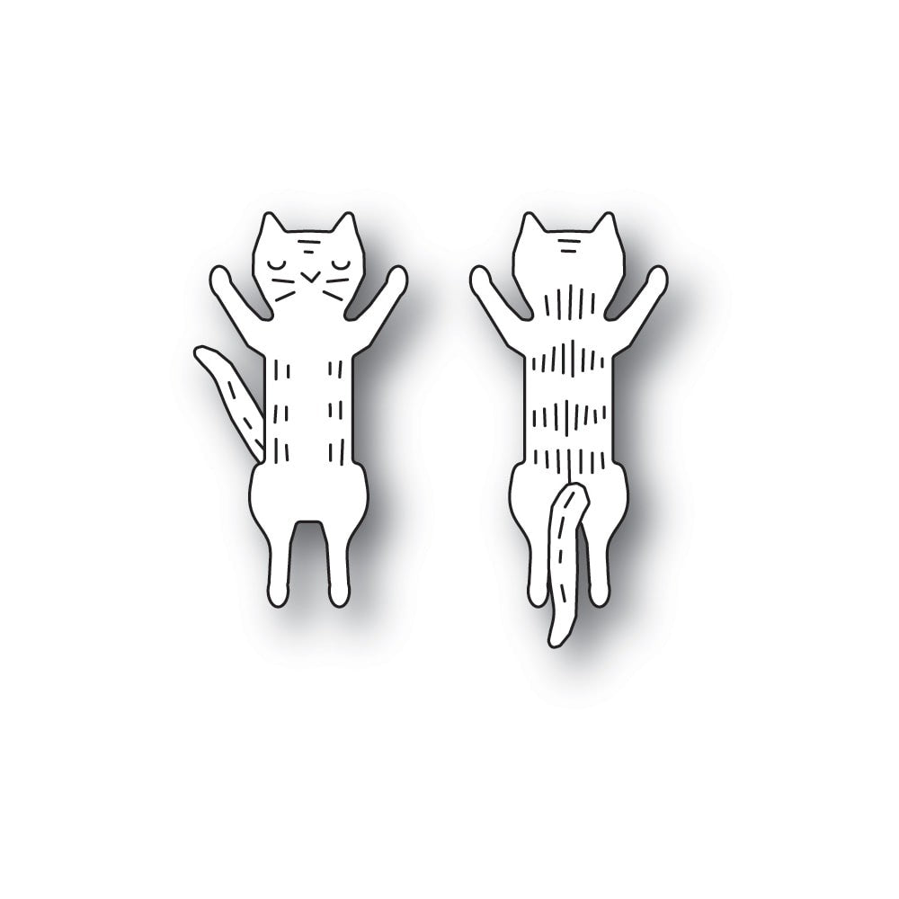 Poppystamps - Dies - Whittle Jumping Kitty