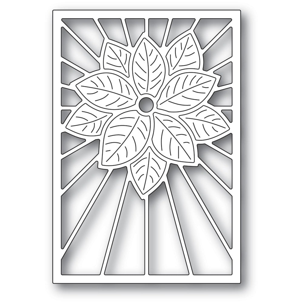 Poppystamps - Dies - Stained Glass Poinsettia
