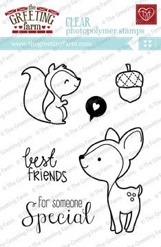 The Greeting Farm - Clear Stamps - Wood Friends (Ships Nov 18)