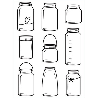 Darice - Embossing Folders - Assorted Glass Jars