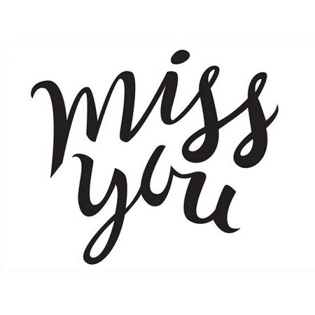 Darice - Embossing Folders - Miss You Sentiment