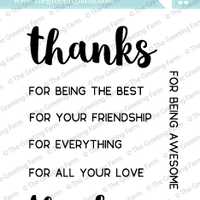 The Greeting Farm - Clear Stamps - Thanks & Thank You (Ships Nov 18)
