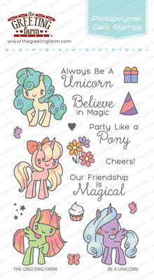 The Greeting Farm - Clear Stamps - Be A Unicorn (Ships Nov 18)