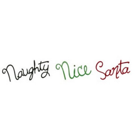 Sizzix Sizzlits Decorative Strip Die - Phrase, Naughty, Nice & Santa
