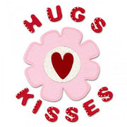 Sizzix Bigz Die - Phrase, Hugs & Kisses w/Flower