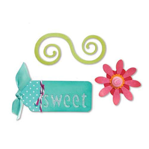 Sizzix Sizzlits Die Set 3PK - Sweet Things Set