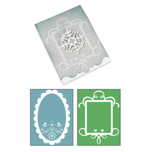 Sizzix Bigz XL w/Bonus Textured Impressions Embossing Folders - Card, Ornate #3 and Frames Set