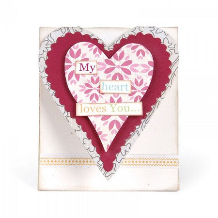 Sizzix Bigz L Die - Card, Mini Heart