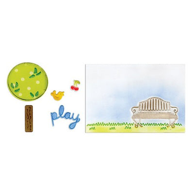 Sizzix Framelits Die Set 5PK w/Textured Impressions - Playing in the Park Set