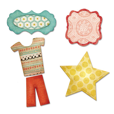 Sizzix Thinlits Die Set 5PK - Bundle of Joy, Boy by Echo Park