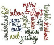 Sizzix - Sizzlits - Tim Holtz - Holiday Words: Script