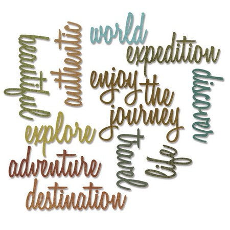 Sizzix - Sizzlits - Tim Holtz - Adventure Words: Script