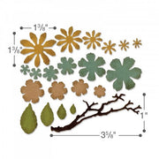 Sizzix - Sizzlits - Tim Holtz - Small Tattered Florals