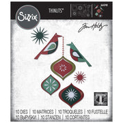 Sizzix - Thinlits by Tim Holtz - Ornamental Birds (ships mid-september)