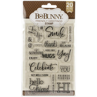BoBunny  - Stamps - Friendly Greetings