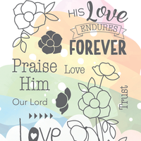The Greeting Farm - Clear Stamps - His Love (Ships Nov 18)