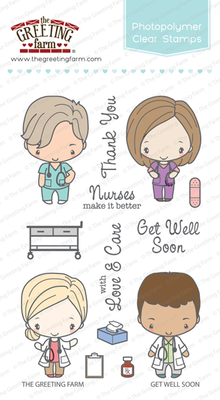 The Greeting Farm - Clear Stamps - Get Well Soon (Ships Nov 18)