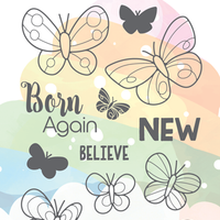 The Greeting Farm - Clear Stamps - Born Again (Ships Nov 18)