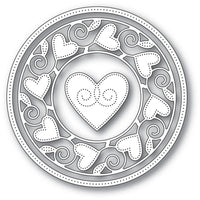 Memory Box - Dies - Pinpoint Heart Circle Frame