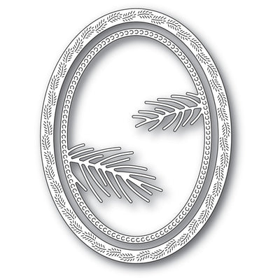 Memory Box - Dies - Pine Needle Oval Frame