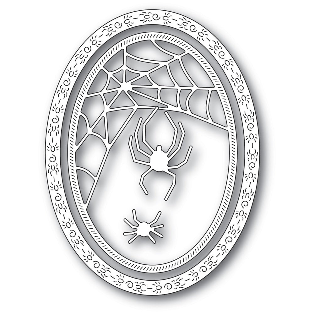 Memory Box - Dies - Spider Web Oval Frame
