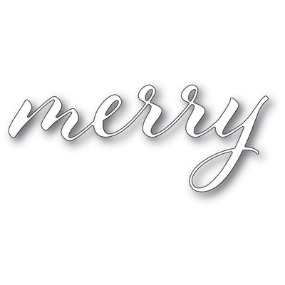 Memory Box - Dies - Merry Airy Script