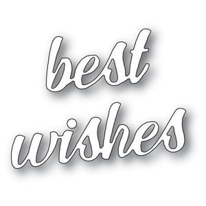 Memory Box - Dies - Best Wishes Banner Script
