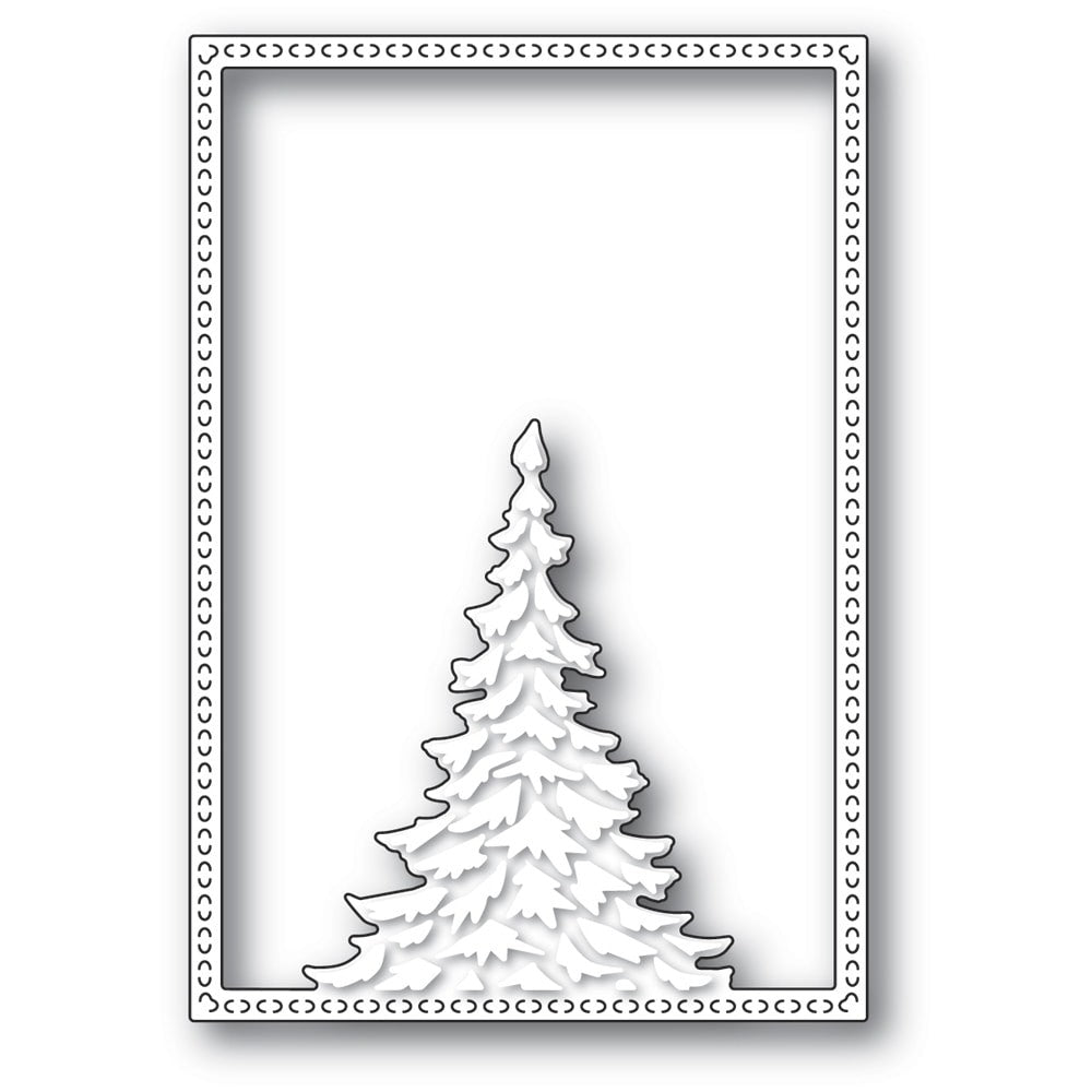 Memory Box - Dies - Single Pine Tree Frame