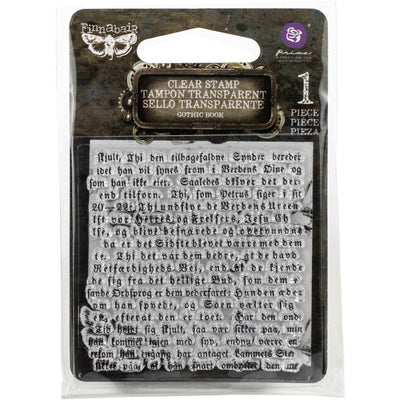 Prima Marketing - Clear Stamp - Gothic Book