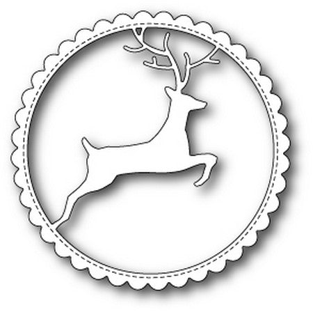Memory Box - Dies - Reindeer Scalloped Circle Frame