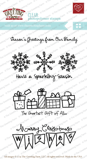 The Greeting Farm - Clear Stamps - Sparkling Season (Ships Nov 18)