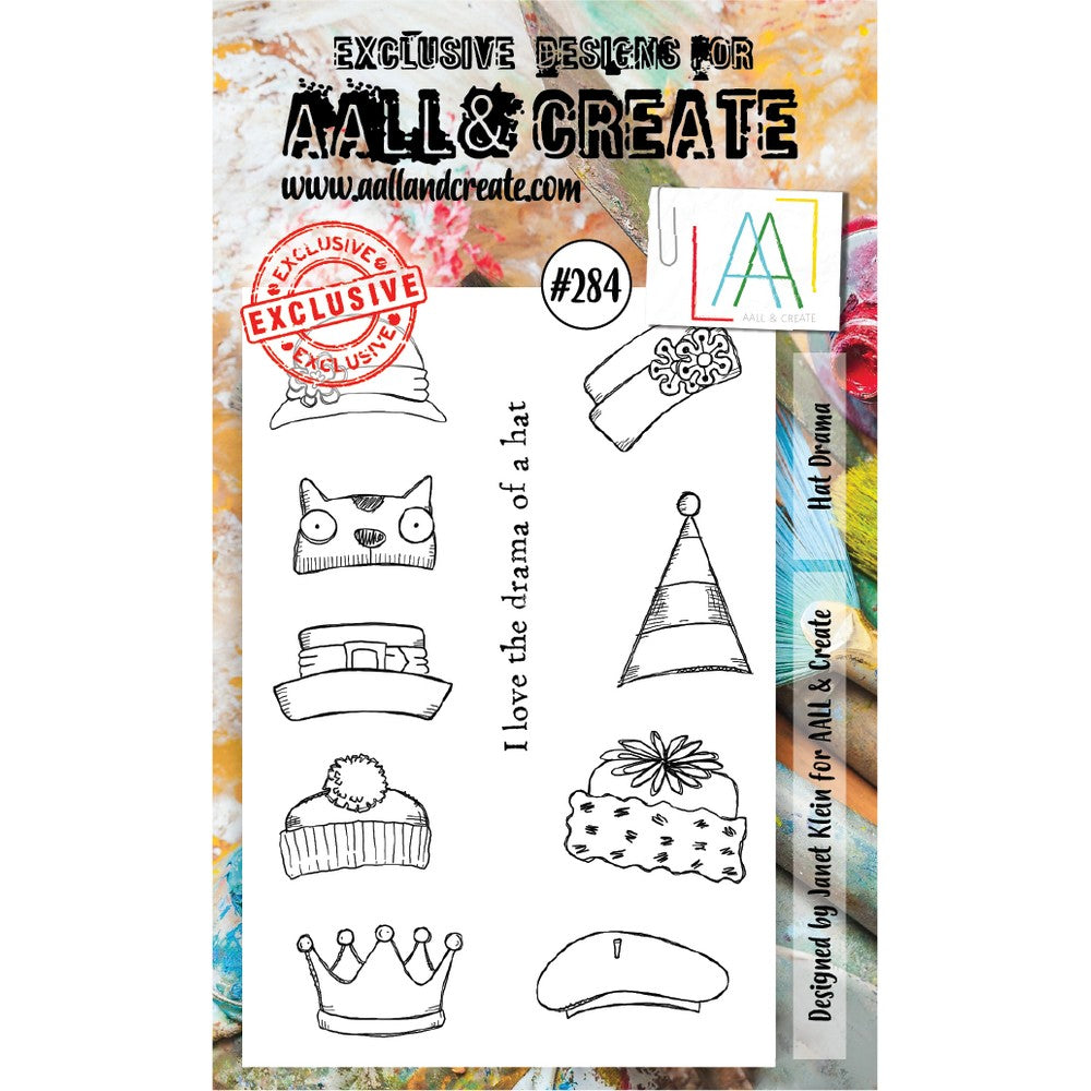 AALL & Create - Stamps - Hat Drama #284