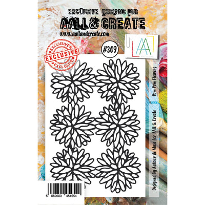AALL & Create - Stamps - Pom Pom Flowers #309