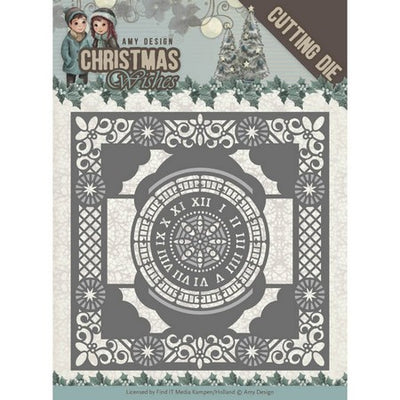 Amy Design - Dies - Christmas Wishes - Twelve O'clock Frame
