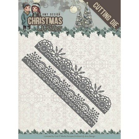 Amy Design - Dies - Christmas Wishes - Snowflake Borders