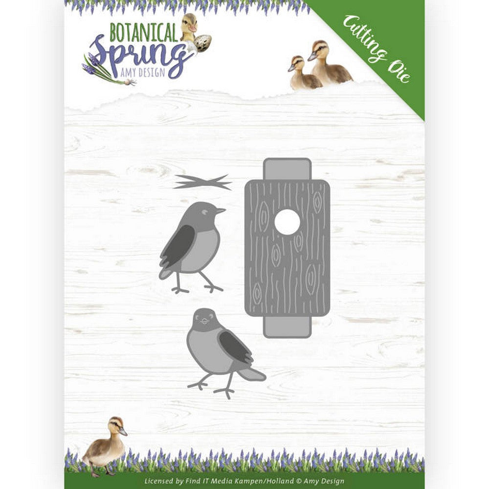 Amy Design - Dies - Botanical Spring - Busy Birds