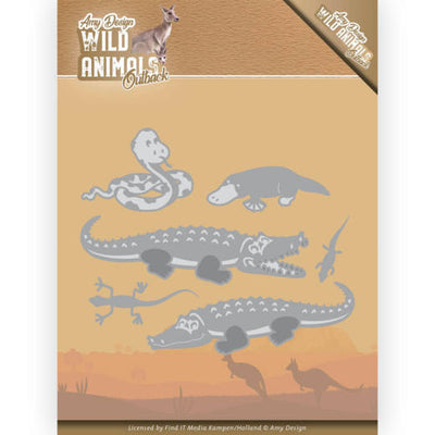 Amy Design - Dies - Wild Animals Outback - Crocodile
