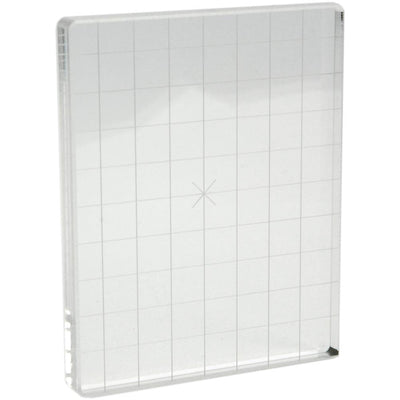 Acrylic Stamp Block W/Alignment Grid - 4