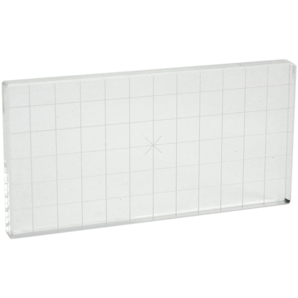 "Acrylic Stamp Block W/Alignment Grid - 3"" x 6"" x 0.5"""