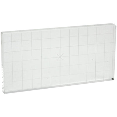 Acrylic Stamp Block W/Alignment Grid - 3