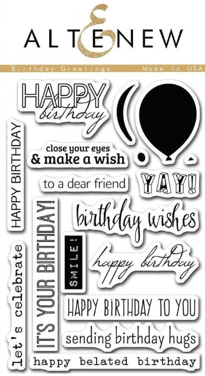 Altenew - Stamps - Birthday Greetings