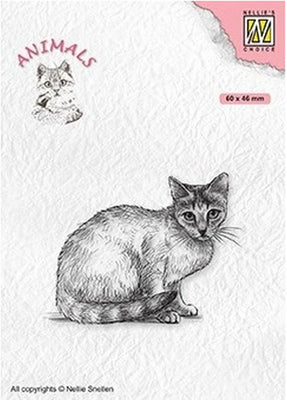 Nellie's Choice - Clear Stamp - Cat