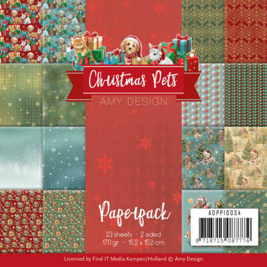 "Amy Design - 6"" x 6"" Paperpack - Christmas Pets"