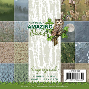 "Amy Design - 6"" x 6"" Paperpack - Amazing Owls"