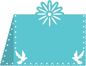Cheery Lynn Designs - Flower & Dove Placecard #1