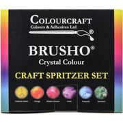 Brusho Inks - 6 Color Craft Spritzer Set (ships around June 15)