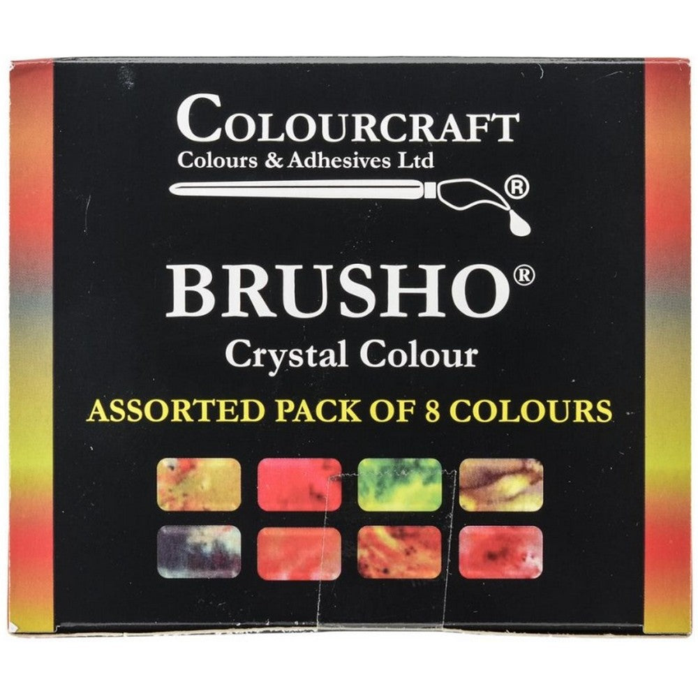 Brusho Inks - 8 New Color Set