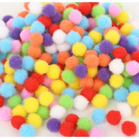 Assorted Soft Pompom Balls - 10mm - 50 pcs